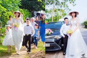 Xôn xao hình ảnh đám cưới của chú rể Hải Phòng cao 1,4m với cô dâu 1,94m