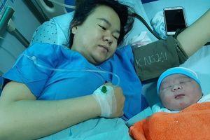 Bé sơ sinh nặng 5,1kg chào đời bằng phương pháp sinh mổ ở Quảng Nam
