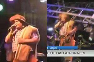 Ca sĩ bị sân khấu đổ sập vào đầu khi đang diễn