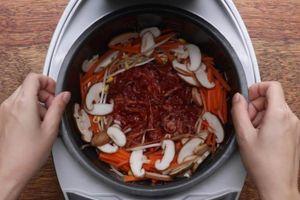 Mẹo nấu cả bữa tối chỉ bằng nồi cơm điện