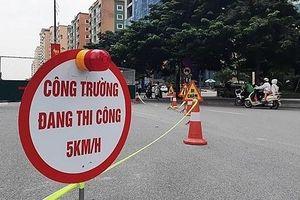 Hà Nội phân luồng, tổ chức giao thông phục vụ thi công cầu Ái Mỗ