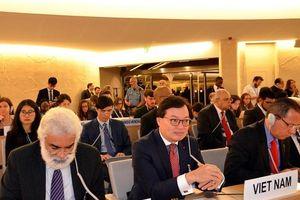 Việt Nam tích cực đóng góp xây dựng nội dung các dự thảo nghị quyết tại Hội đồng Nhân quyền