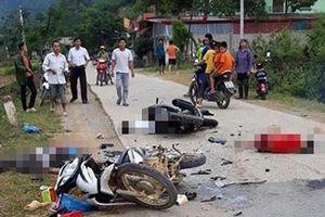 Hai xe máy đấu đầu kinh hoàng ở Lạng Sơn, 5 người thương vong
