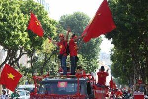 Hà Nội rộn ràng trong ngày đội tuyển Việt Nam thi đấu với đội tuyển Malaysia