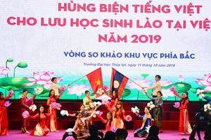 Lưu học sinh Lào tại Việt Nam thi tài hùng biện tiếng Việt