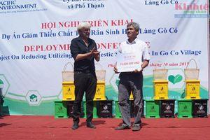 Quảng Ngãi triển khai DA Giảm thiểu chất thải rắn sinh hoạt làng Gò Cỏ