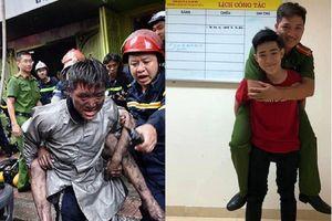 Chàng trai cõng chiến sĩ PCCC đã cứu mạng mình trong đám cháy