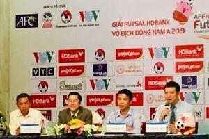 Tuyển futsal Việt Nam đặt mục tiêu vào top 3 ở giải Futsal HDBank Đông Nam Á 2019
