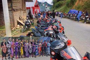 Dân mạng xuýt xoa đoàn rước dâu mặc trang phục người dân tộc thiểu số, đi xe phân khối lớn ở Lào Cai