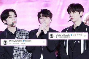 Kiệm lời là thế, tương tác mới của KuanLin (Wanna One) trên Instagram của Seongwu và Minhyun khiến fan phấn khích