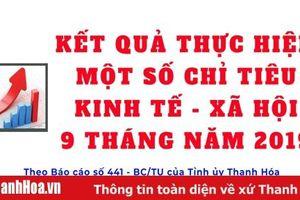Kết quả thực hiện một số chỉ tiêu kinh tế - xã hội của tỉnh Thanh Hóa trong 9 tháng năm 2019