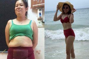 Nàng single mom giảm 21kg ngoạn mục chỉ 5 tháng sau sinh, body thon thả quyến rũ khiến mọi người không nhận ra