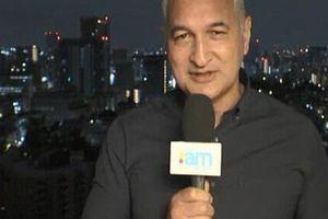 MC bị chê ngu ngốc khi đưa tin về siêu bão Nhật Bản