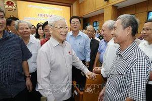 Tổng Bí thư, Chủ tịch nước Nguyễn Phú Trọng tiếp xúc cử tri thành phố Hà Nội