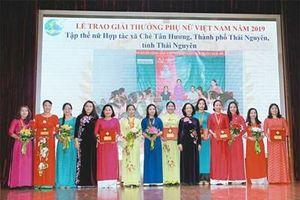 6 tập thể và 10 cá nhân có thành tích xuất sắc nhận Giải thưởng Phụ nữ Việt Nam 2019