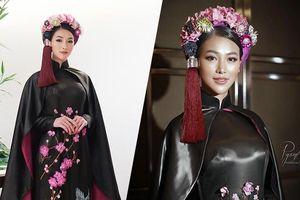 Diện áo dài 'hoành tráng', Phương Khánh đẹp quyền lực ngay đêm National Costume Miss Earth 2019