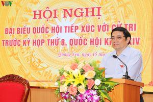 Ông Phạm Minh Chính tiếp xúc cử tri Quảng Ninh