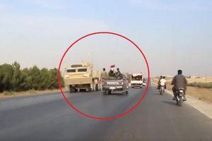 Khoảnh khắc binh sĩ Mỹ chạm trán quân đội Syria trên đường rút lui