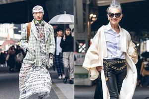 Các anh chàng mặc váy, cụ bà ăn diện như thiếu nữ ở Tokyo Fashion Week
