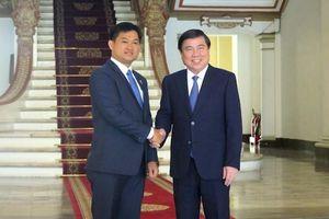 Chủ tịch UBND TPHCM tiếp Tân Tổng Lãnh sự Campuchia