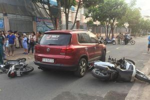 Tông hàng loạt xe máy, nữ tài xế ô tô còn 'già mồm' chửi bới gây bức xúc