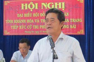 Cho ông Lê Thanh Quang thôi giữ chức bí thư Khánh Hòa