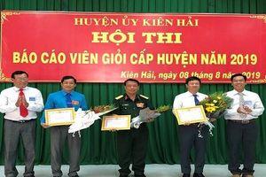 Bế mạc Hội thi Báo cáo viên giỏi tỉnh Kiên Giang năm 2019