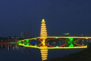 Đưa vào sử dụng cầu đi bộ qua hồ công viên Văn Lang, Phú Thọ