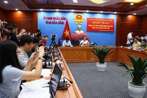 Hòa Bình: Họp báo về việc xử lý ô nhiễm nguồn nước sạch cung cấp cho Hà Nội