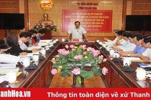 Đoàn ĐBQH tỉnh làm việc với UBND, Ủy ban MTTQ và các cơ quan khối tư pháp