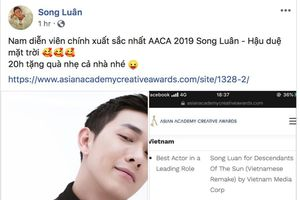 Song Luân thắng giải ở Singapore nhờ 'Hậu duệ mặt trời'