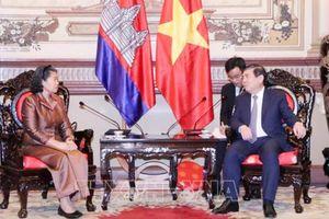 Chủ tịch UBND TPHCM tiếp Phó Thủ tướng Campuchia