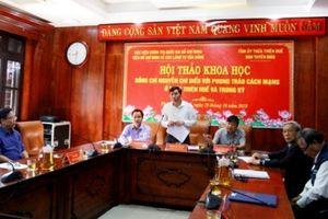 Đồng chí Nguyễn Chí Diểu với phong trào cách mạng ở Thừa Thiên - Huế và Trung kỳ
