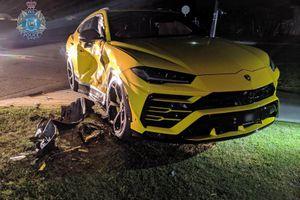 Cậu bé 14 tuổi tông xe ăn trộm vào Lamborghini Urus