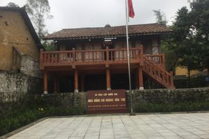 Nhà lưu niệm đồng chí Hoàng Văn Thụ: Hỏng vì làm mới