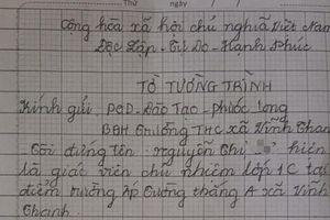 Ngán ngẩm với bản tường trình của giáo viên ném vở học sinh