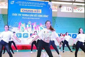 Hà Nội: Phụ nữ Đông Anh đua tài với 'Zumba gắn kết cộng đồng'