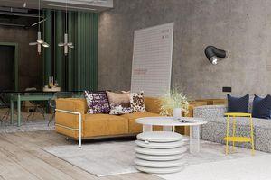 Ấn tượng căn hộ phong cách công nghiệp đầy màu sắc