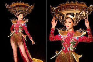 Á hậu Kiều Loan hé lộ trang phục dân tộc hoành tráng khiến fans 'phát sốt'