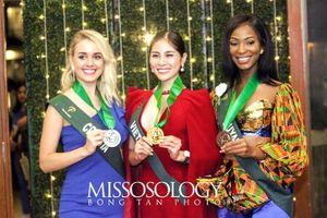 Hoàng Hạnh giành huy chương vàng phần thi Resort Wear tại Hoa hậu trái đất