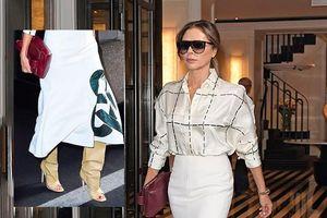 Victoria Beckham chơi trội xuống phố với đôi bốt bùng nhùng