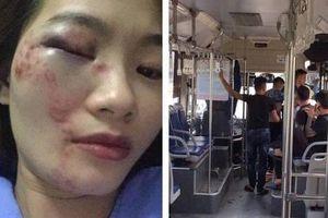 Nữ nhân viên xe buýt bị 4 nam hành khách đánh nhập viện