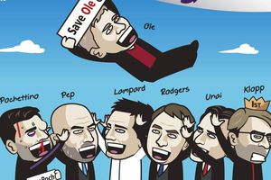 Biếm họa các HLV Premier League vui vì Solskjaer được cứu
