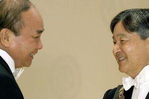 Thủ tướng Nguyễn Xuân Phúc dự tiệc Hoàng gia do Nhà vua Naruhito chủ trì