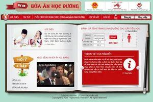 Chuẩn hóa thực đơn bán trú tiểu học tỉnh Tuyên Quang