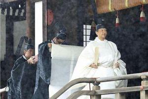 Nhật hoàng Naruhito thực hiện nghi lễ với tổ tiên trước giờ đăng quang