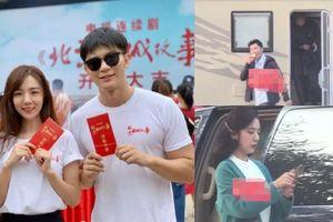 Lộ ảnh Lý Thần cùng 'bạn gái tin đồn' Vương Hiểu Thần trên phim trường