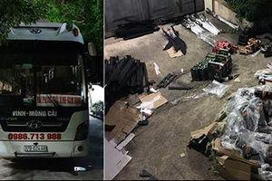 34 khẩu súng điện cùng hơn 100 đao kiếm trên xe khách chạy về Quảng Ninh