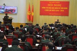 Hội nghị thông tin khoa học quân sự toàn quân