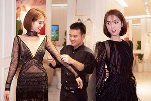 Ngọc Trinh mặc váy mỏng tang khoe dáng nuột nà, được NTK chăm sóc từng cen-ti-met trong phòng thử đồ